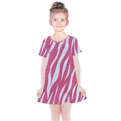 SKIN3 WHITE MARBLE & PINK DENIM Kids  Simple Cotton Dress