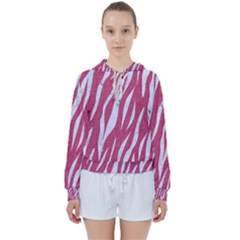 SKIN3 WHITE MARBLE & PINK DENIM Women s Tie Up Sweat