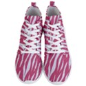 SKIN3 WHITE MARBLE & PINK DENIM Men s Lightweight High Top Sneakers View1