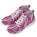 SKIN3 WHITE MARBLE & PINK DENIM Men s Lightweight High Top Sneakers View2