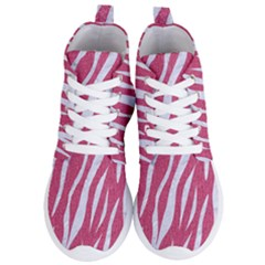 Skin3 White Marble & Pink Denim Women s Lightweight High Top Sneakers
