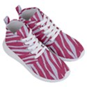 SKIN3 WHITE MARBLE & PINK DENIM Women s Lightweight High Top Sneakers View3