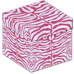 Skin2 White Marble & Pink Denim (r) Storage Stool 12