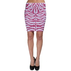 Skin2 White Marble & Pink Denim (r) Bodycon Skirt by trendistuff