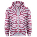SKIN2 WHITE MARBLE & PINK DENIM (R) Men s Zipper Hoodie View1