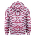SKIN2 WHITE MARBLE & PINK DENIM (R) Men s Zipper Hoodie View2