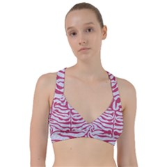 Skin2 White Marble & Pink Denim (r) Sweetheart Sports Bra by trendistuff