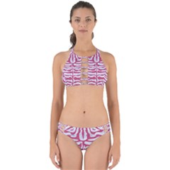 Skin2 White Marble & Pink Denim (r) Perfectly Cut Out Bikini Set by trendistuff