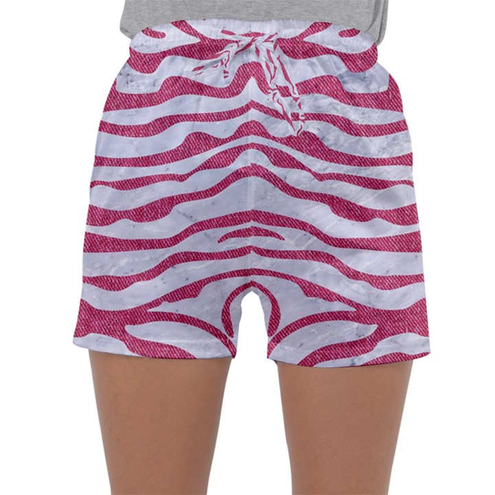 SKIN2 WHITE MARBLE & PINK DENIM (R) Sleepwear Shorts