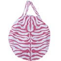 SKIN2 WHITE MARBLE & PINK DENIM (R) Giant Round Zipper Tote View1