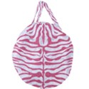 SKIN2 WHITE MARBLE & PINK DENIM (R) Giant Round Zipper Tote View2