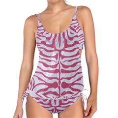 Skin2 White Marble & Pink Denim (r) Tankini Set