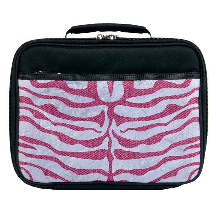 SKIN2 WHITE MARBLE & PINK DENIM (R) Lunch Bag