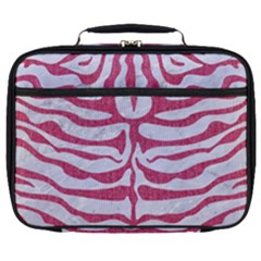 Skin2 White Marble & Pink Denim (r) Full Print Lunch Bag by trendistuff