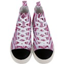 SKIN2 WHITE MARBLE & PINK DENIM (R) Men s Mid-Top Canvas Sneakers View1