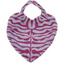 SKIN2 WHITE MARBLE & PINK DENIM (R) Giant Heart Shaped Tote View1