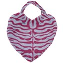 SKIN2 WHITE MARBLE & PINK DENIM (R) Giant Heart Shaped Tote View2
