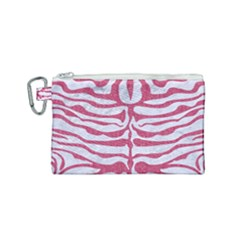 Skin2 White Marble & Pink Denim (r) Canvas Cosmetic Bag (small) by trendistuff