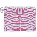 SKIN2 WHITE MARBLE & PINK DENIM (R) Canvas Cosmetic Bag (XXL) View1