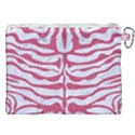 SKIN2 WHITE MARBLE & PINK DENIM (R) Canvas Cosmetic Bag (XXL) View2