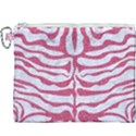 SKIN2 WHITE MARBLE & PINK DENIM (R) Canvas Cosmetic Bag (XXXL) View1