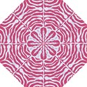 SKIN2 WHITE MARBLE & PINK DENIM Hook Handle Umbrellas (Large) View1