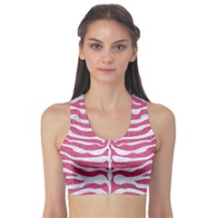 Skin2 White Marble & Pink Denim Sports Bra by trendistuff