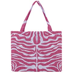 Skin2 White Marble & Pink Denim Mini Tote Bag by trendistuff