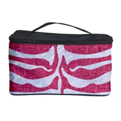 Skin2 White Marble & Pink Denim Cosmetic Storage Case by trendistuff