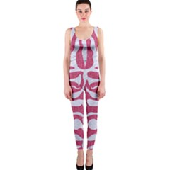 Skin2 White Marble & Pink Denim One Piece Catsuit