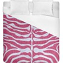 SKIN2 WHITE MARBLE & PINK DENIM Duvet Cover (King Size) View1