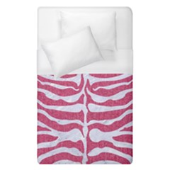 Skin2 White Marble & Pink Denim Duvet Cover (single Size)