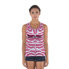 Skin2 White Marble & Pink Denim Sport Tank Top  by trendistuff