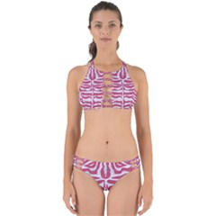 Skin2 White Marble & Pink Denim Perfectly Cut Out Bikini Set by trendistuff