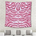 SKIN2 WHITE MARBLE & PINK DENIM Square Tapestry (Large) View2