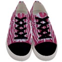 SKIN2 WHITE MARBLE & PINK DENIM Men s Low Top Canvas Sneakers View1