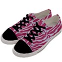 SKIN2 WHITE MARBLE & PINK DENIM Men s Low Top Canvas Sneakers View2