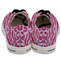 SKIN2 WHITE MARBLE & PINK DENIM Men s Low Top Canvas Sneakers View4