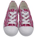 SKIN2 WHITE MARBLE & PINK DENIM Kids  Low Top Canvas Sneakers View1