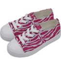 SKIN2 WHITE MARBLE & PINK DENIM Kids  Low Top Canvas Sneakers View2