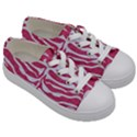 SKIN2 WHITE MARBLE & PINK DENIM Kids  Low Top Canvas Sneakers View3
