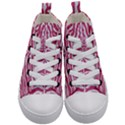 SKIN2 WHITE MARBLE & PINK DENIM Kid s Mid-Top Canvas Sneakers View1