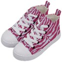SKIN2 WHITE MARBLE & PINK DENIM Kid s Mid-Top Canvas Sneakers View2