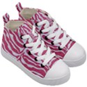 SKIN2 WHITE MARBLE & PINK DENIM Kid s Mid-Top Canvas Sneakers View3