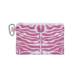 Skin2 White Marble & Pink Denim Canvas Cosmetic Bag (small)