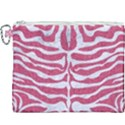 SKIN2 WHITE MARBLE & PINK DENIM Canvas Cosmetic Bag (XXXL) View1