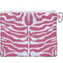 SKIN2 WHITE MARBLE & PINK DENIM Canvas Cosmetic Bag (XXXL) View2