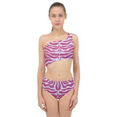 Skin2 White Marble & Pink Denim Spliced Up Two Piece Swimsuit