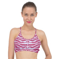 Skin2 White Marble & Pink Denim Basic Training Sports Bra by trendistuff