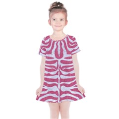 Skin2 White Marble & Pink Denim Kids  Simple Cotton Dress